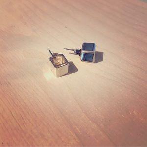 Jewelry - Sterling Silver Cube Stud Earrings